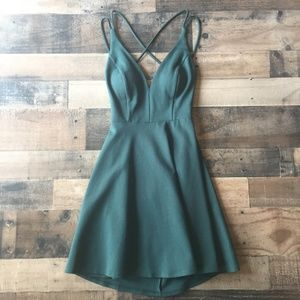 Lulu's Believe in Love Strappy Back Skater Dress M